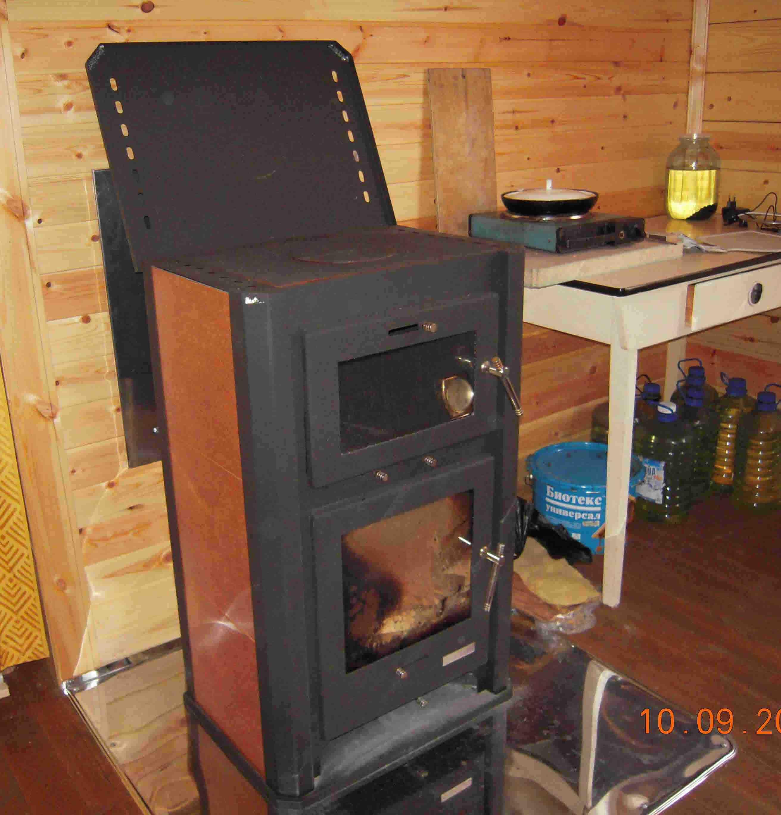 Печь-камин EcoKamin Бавария с духовым шкафом