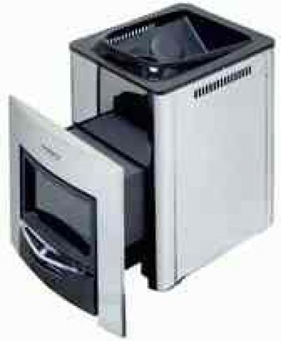 Дровяная печь для бани  Harvia 36 Duo, WK360SLUX , 6417659001144