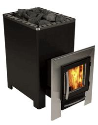 HELO Дровяная печь для бани 16K L SL со стеклянной дверцей, черный, зНН03909