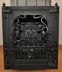 Чугунная дверка с ручной художественной ковкой для печи Жар-птица