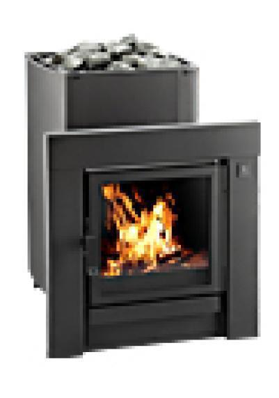 Дровяная печь для бани KASTOR KSIS-20 JK (фронтальная рамка из нержавеющей стали (хром)), артикул 083343, зНН05546