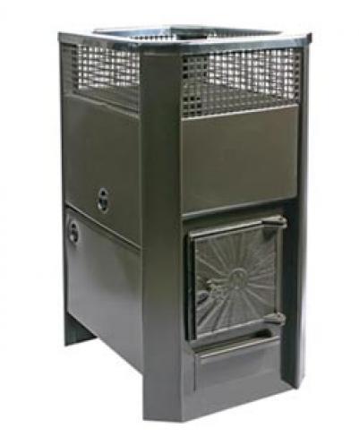 Дровяная печь для бани Радуга ПБ-11 (встроенный теплообменник), 4 мм сталь