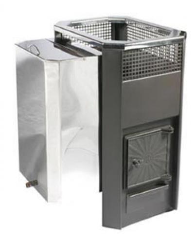 Дровяная печь для бани Радуга ПБ-11Б (навесной бак 45 л), 6 мм сталь