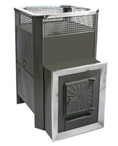 Дровяная печь для бани Радуга ПБ-31 (встроенный теплообменник), 6 мм сталь