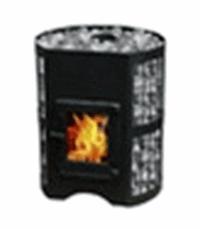 Дровяная печь для бани ВзЗУВИЙ СКИФ 12 С со стеклянной дверцей