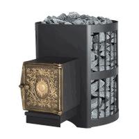 Дровяная печь для бани ВзЗУВИЙ СКИФ 16 ВЧ с выносом и чугунной дверцей