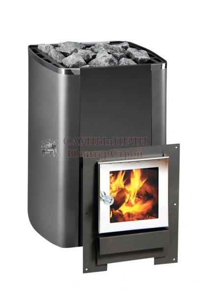 Дровяная печь для бани KASTOR KARHU 20 JK, чёрная, артикул 089440