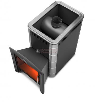 Дровяная печь для бани Термофор Ангара 2012 Carbon Витра ЗК антрацит