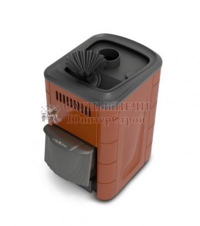 Дровяная печь для бани Термофор Ангара 2012 Carbon ДА ЗК терракота