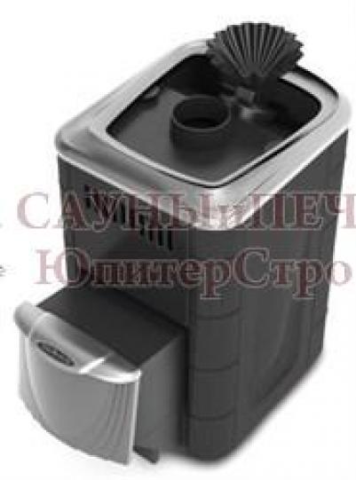 Дровяная печь для бани Термофор Ангара 2012 Carbon ДН ЗК антрацит