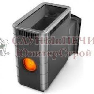 Дровяная печь для бани Термофор Аврора XXL Inox Витра �ллюминатор антрацит НВ