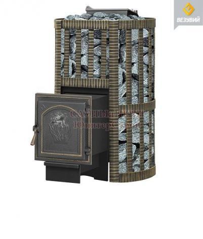 Дровяная печь для бани Везувий  УРАГАН КОВКА 16 (271)