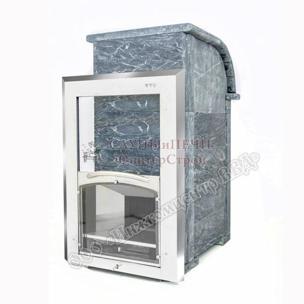Печь банная Калита Князь, топка чугунная , облицовка талькохлорид, дверца С вертикальным механизмом открывания