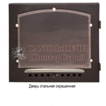 Печь банная КАЛИТА арочная, топка чугунная , облицовка змеевик или талькохлорид, дверца Стальная окрашенная