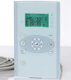 Пульт управления FASEL profiline 4000 Steam Design Glass (упр. парогенератором+упр.подогрев.лавок), FCU4000-STEAM-DESIGN-GLAS