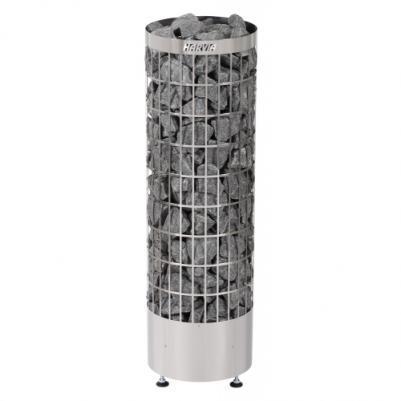 Электрическая печь для сауны Harvia Cilindro PC70 Steel со встроенным пультом, HPC700400, 6410082610068