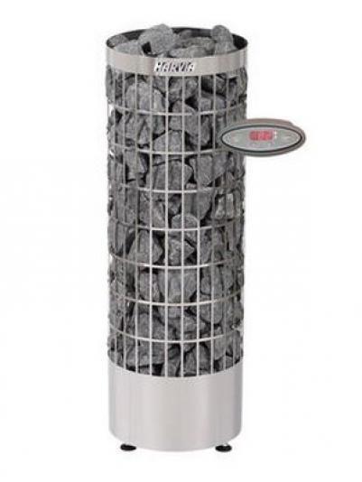 Электрическая печь для сауны Harvia Cilindro PC110EE, нержавеющая сталь (с выносным пультом в комплекте), HPC1104EE