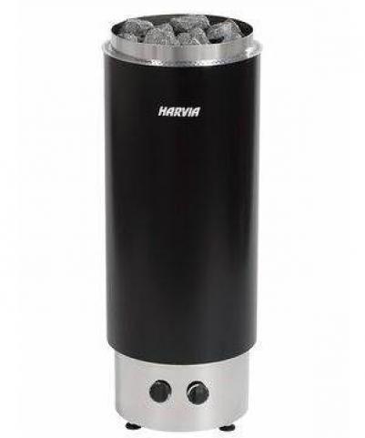Электрическая печь для сауны Harvia Cilindro PC70F Black со встроенным пультом, HPC700400F , 6410082610136