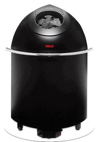 HELO Электрическая печь для сауны напольной установки PIKKUTONTTU 66 DE 6,6 кВт, черный, зНН01352
