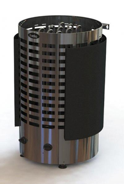 HELO Электрическая печь для сауны напольной установки Ringo Black 60 STJ BWT (6 кВт, пассивный парогенератор) 6.0 кВт, хром/чёрный, мультивольтаж, артикул 001820, зНН06517