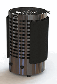 HELO Электрическая печь для сауны напольной установки RINGO 60 STJ 6.0 кВт, хром/чёрный, мультивольтаж, артикул 001820, зНН06517