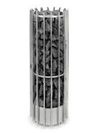 HELO Электрическая печь для сауны напольной установки ROCHER 105 DEТ 10,5 кВт, хром, мультинапряжение, без пульта управления, артикул 002723, зНН06698