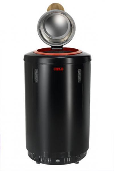 HELO Электрическая печь для сауны напольной установки RONDO 650, 6,5 кВт, пульт управления RA 19, графит, артикул 002907, зНН06700