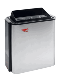 HELO Электрическая печь для сауны настенной установки SOFTHOT 45 D 4,5 кВт, хром, артикул 008569, зНН01325