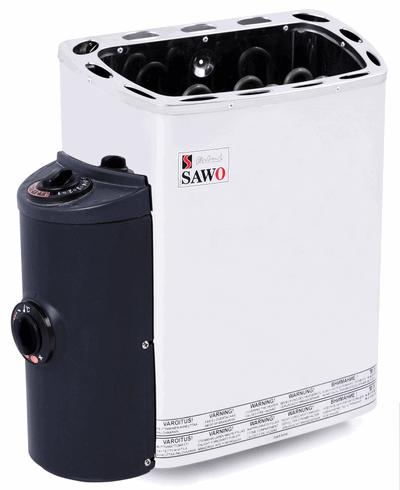 SAWO Электрическая печь для сауны MINI MN-30NB-Z, кожух и верхняя решетка из нержавейки, внутри оцинковка