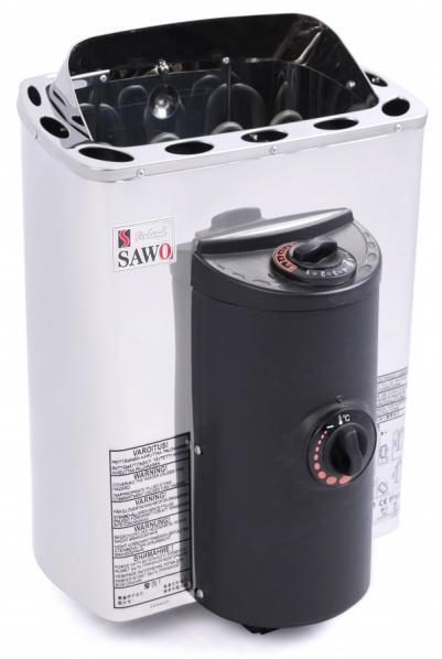 SAWO Электрическая печь для сауны Mini X MX-23NB-P, кожух и верхняя решетка из нержавейки
