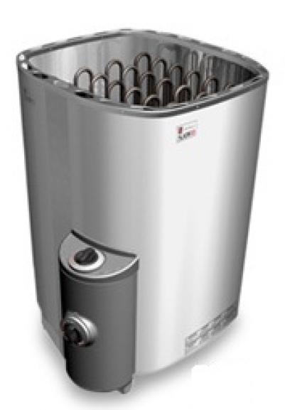 SAWO Электрическая печь для сауны SAVONIA SAV-90NB-Z, кожух и верхняя решетка из нержавейки, внутри оцинковка.