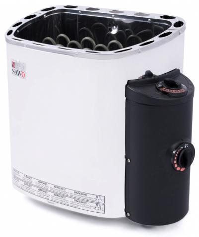 SAWO Электрическая печь для сауны SCANDIA SCA-30NB-Z, кожух и верхняя решетка из нержавейки, внутри оцинковка , зНН01601