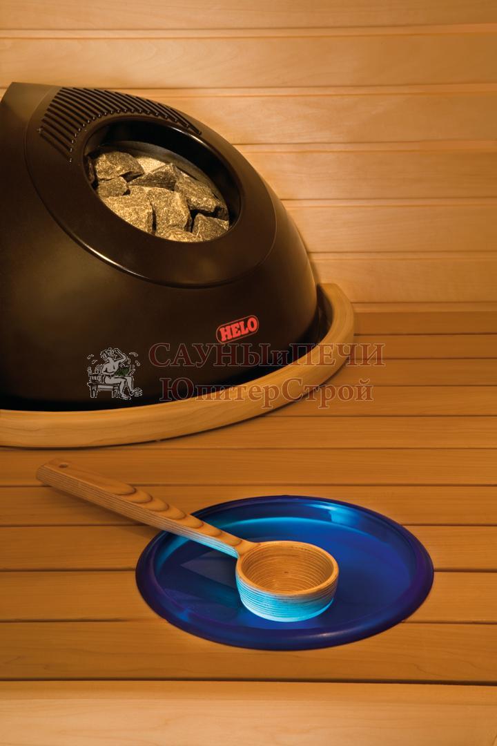HELO Ёлектрическа¤ печь дл¤ сауны напольной установки PIKKUTONTTU 66 DE 6,6 к¬т, черный, зЌЌ01352
