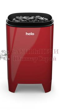 HELO Электрическая печь для сауны настенной/напольной установки FONDA DET 6.6 кВт без пульта T1, красная, артикул 001804, зНН06509
