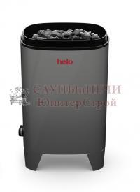HELO Электрическая печь для сауны настенной/напольной установки FONDA DET 6.6 кВт без пульта T1, серая, артикул 001806, зНН06507