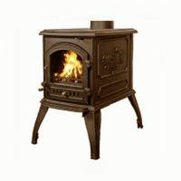 Чугунная печь Harry Flame ТОРОНТО (патина) 8 кВт.(АМ16-8К Anti-Brass)