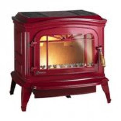 Камин-печь Invicta Bradford (6173-46), красная эмаль