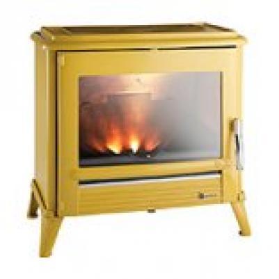 Камин-печь Invicta Moderna (6175-45), желтая эмаль