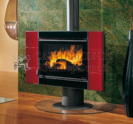 Печь-камин La nordica Carillon 16/9 EVO бордо, черный
