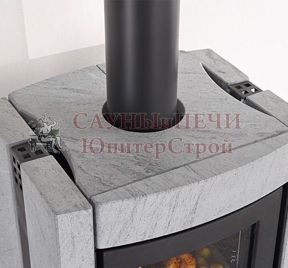 Печь-камин La nordica Ester con forno EVO натуральный камень