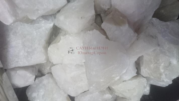 Камни для бани белый кварцит, колотый