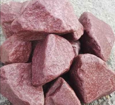 Камни для бани (кварцит малиновый) обвалованный Сердце Карелии коробка 20кг