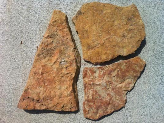 Камень ИЗВЕСТНЯК ПЕРСИКОВЫЙ (ЖЕЛТО-РОЗОВЫЙ), толщина 2-4 см