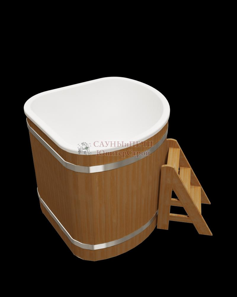 Купель композитная угловая 130х130х10 см, сосна. kl130s