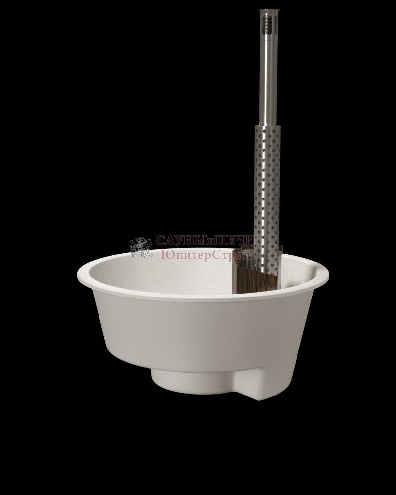 Купель композитная премиум Терраса 220х110см, без внешней отделки,с внутренней печью из нержавеющей стали, kfp220T