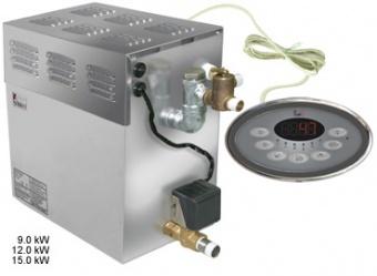 SAWO Парогенератор STP-120-3 в комплекте с пультом Innova и автоочисткой (3 доп. функции: свет, вентилятор, насос-дозатор), зНН05019