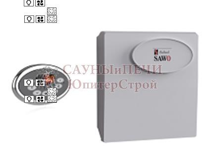 Пульт INC-S, блок мощности Combi с доп функциями диммера и вентиляции Sawo, INC-SET (Combi** with Dimmer and Fan*)