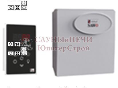 Пульт INC-S-V2, блок мощности Combi с доп функциями диммера и вентиляции Sawo, INC-SET-V2  (Combi** with Dimmer and Fan*)