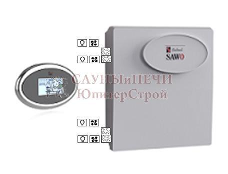 Пульт INT-S, блок мощности Combi с доп функциями диммера и вентиляции Sawo, INT-SET (Combi** with Dimmer and Fan*)