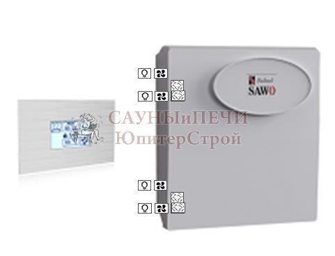 Пульт INT-S-SST, блок мощности Combi с доп функциями диммера и вентиляции Sawo, INT-S-SET (Combi** with Dimmer and Fan*)